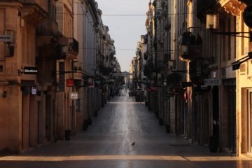 Rue Sainte-Catherine vide